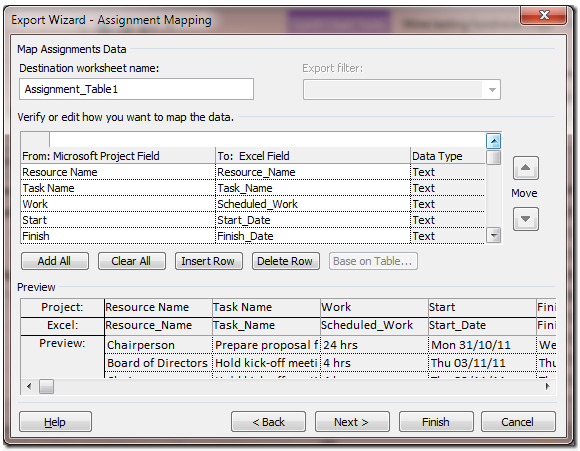 Exporting Tasks from Project into Your Outlook Calendar
