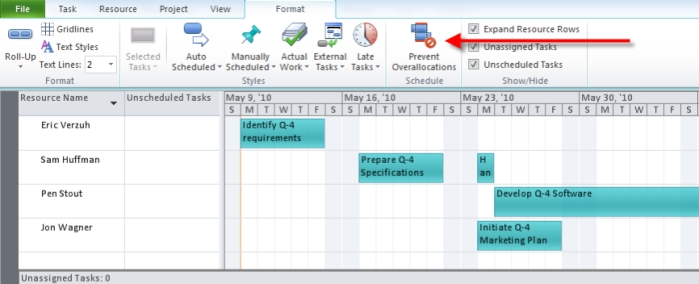 Microsoft Project 2010 Feature Rally: Team Planner
